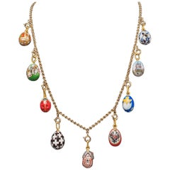 Dacha Easter Egg Necklace on Gold Chain by Marie Betteley