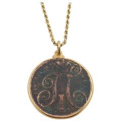 Rare Russian Tsar Paul I Coin Pendant