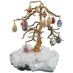 Russian Easter Egg Rock Crystal Tree