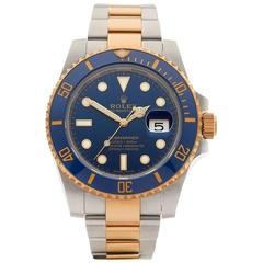 Rolex Yellow Gold Stainless Steel Ceramic Submariner Automatic Wristwatch