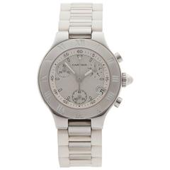 Must de Cartier Chronoscaph 21 Stainless Steel Ladies 2996