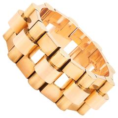 French 1940s Yellow and Rose Gold Bracelet