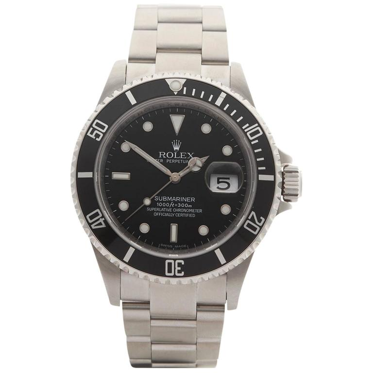 Rolex Submariner Stainless Steel Gents 16610 For Sale