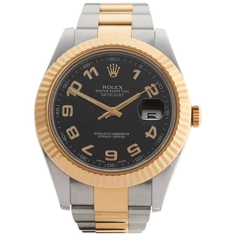 Rolex Datejust II Stainless Steel/18 Karat Yellow Gold Gents 116333, 2013 For Sale