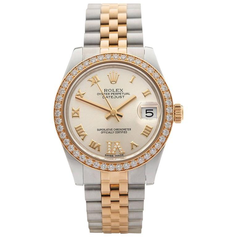 Rolex Datejust Original Diamond Bezel Stainless Steel/18 Karat Gold Ladies 178 1