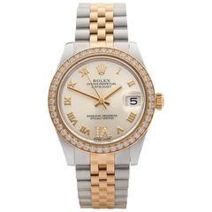 Rolex Datejust Original Diamond Bezel Stainless Steel/18 Karat Gold Ladies 178