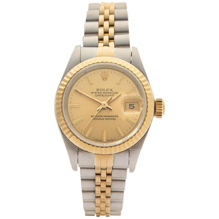 Rolex Datejust Stainless Steel/18K Yellow Gold Ladies 69173 1