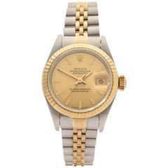 Rolex Datejust Stainless Steel/18 Karat Yellow Gold Ladies 69173, 1994