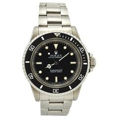 Rolex Stainless Steel Submariner Wristwatch Ref 5513, circa 1988