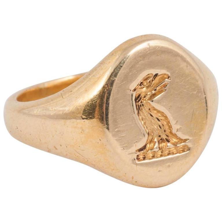 English Gold Signet Ring