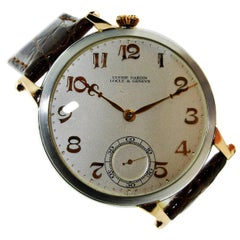 Nardin Platinum Rose Gold Stern Freres Dial Manual Watch