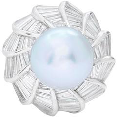 Pearl Diamonds White Gold Ring