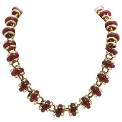 Pomellato Carnelian Gold Necklace