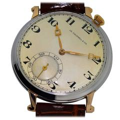 Caldwell by Ditisheim Platinum Yellow Gold Enamel Pocket Wristwatch