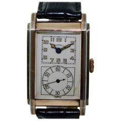 J. E. Caldwell Yellow Gold Sterling Silver Doctors Hand Constructed Watch