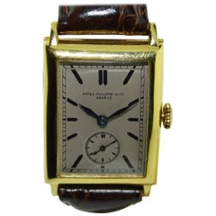 Patek Philippe Yellow Gold Stern Freres Dial Art Deco Manual Wristwatch