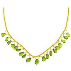 Briolette Peridot Necklace