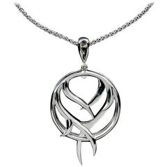 Stephen Webster Sterling Silver Rapture Thorn Circle Pendant