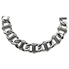 David Yurman Sterling Silver Madison Cable Curb Link Necklace