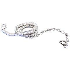 Luca Jouel Shiner White Gold White Diamond Lotus Tennis Bracelet