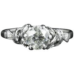 Antique Edwardian Diamond Solitaire Engagement Ring, circa 1915
