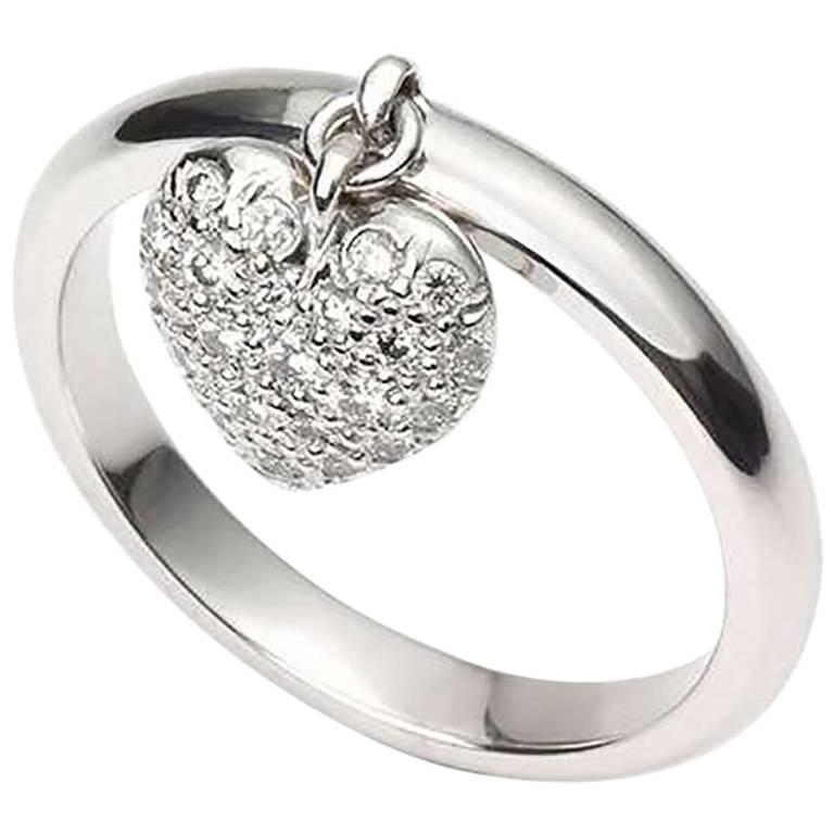Tiffany & Co. Heart Diamond Platinum Ring