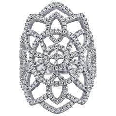 Stunning Wide Diamond Ring