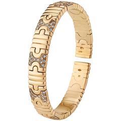 Bulgari Parentesi Diamond Gold Cuff Bracelet