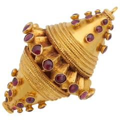 Ruby Yellow Gold Pendant