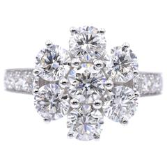 Graff Diamond Flower White Gold Ring