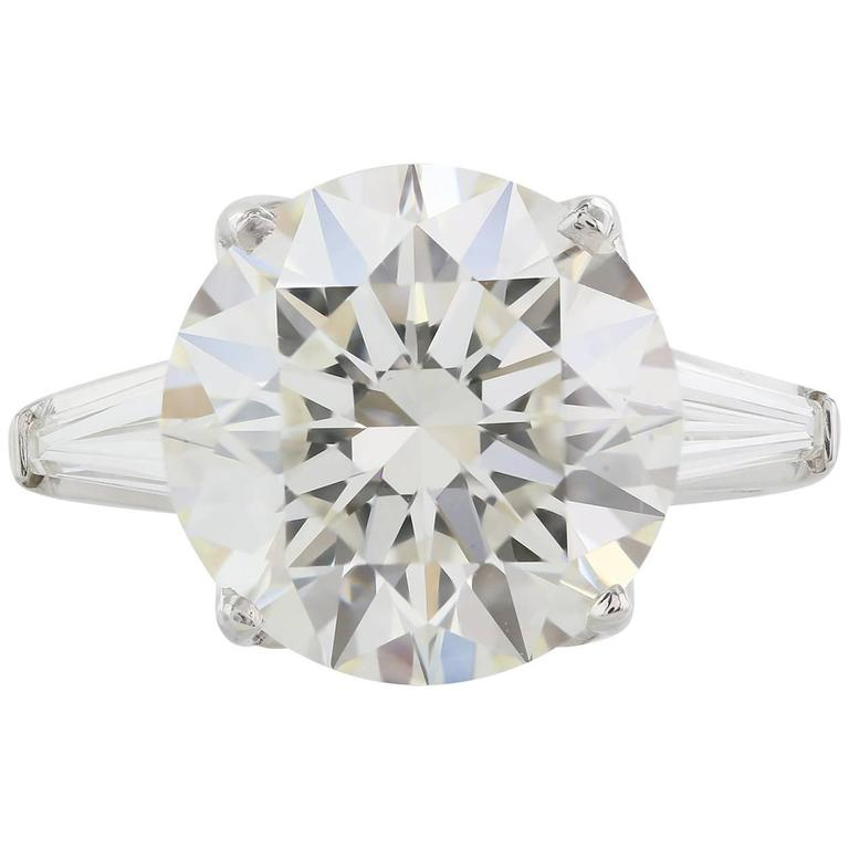 GIA Certified 8 04 Carat J VS2 Triple X Diamond White Gold
