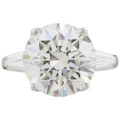 GIA Certified 8.04 Carat J/VS2 Triple X Diamond White Gold Engagement Ring