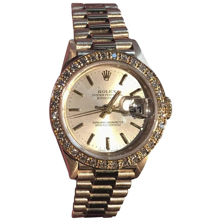Rolex Ladies Yellow Gold President Wristwatch 1