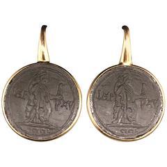 Cameo and Rose Gold 18 Carat Drop Earrings