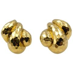 Chic Henry Dunay Gold Earclips