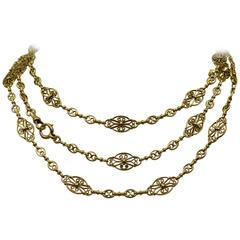 Elegant Antique French Gold Longchain