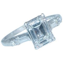 Fine Diamond Platinum Ring