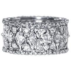 Buccellati Diamond White Gold Band Ring