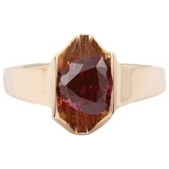 Stunning 4.85 Carat Rhodolite Garnet Ring in 14 Karat Gold