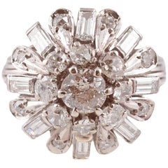 2 Carat Diamond White Gold Ring