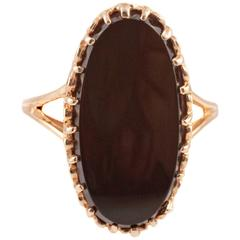 Black Onyx Gold Ring
