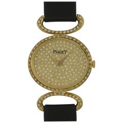 Piaget Ladies Yellow Gold Diamond Wristwatch