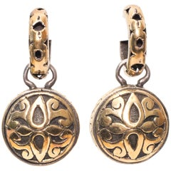 John Hardy Sterling Silver Gold Earrings