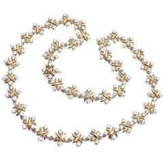 Tiffany & Co. Lynn Diamond Yellow Gold Platinum Necklace