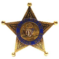 Rare Enamel Gold Chicago Police Alderman Second Ward Badge Dated 1901