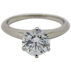 Tiffany & Co. 1.49 Carat Round Diamond Platinum Engagement Ring