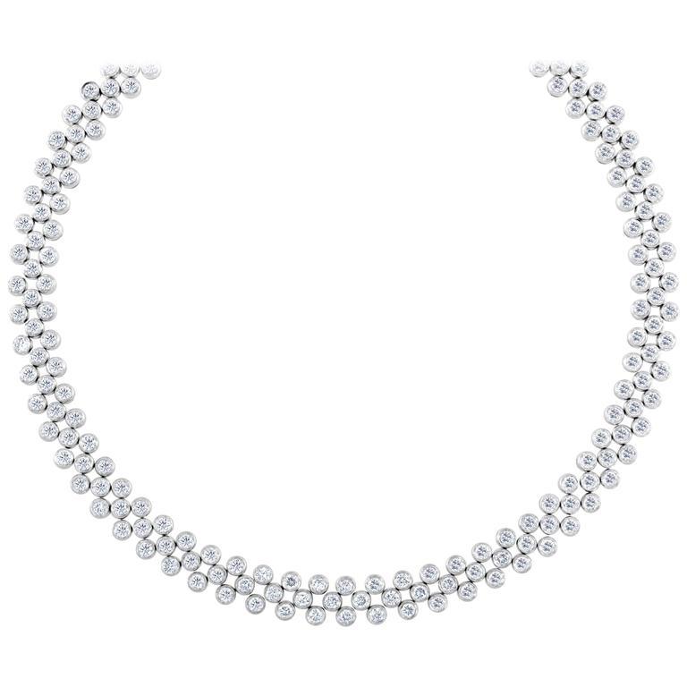19.95 Carat Round Brilliant Cut Diamond Platinum Necklace