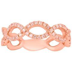 Natural Pink Diamond Gold Band Ring