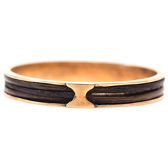 1880s Gold Mourning Band Ring