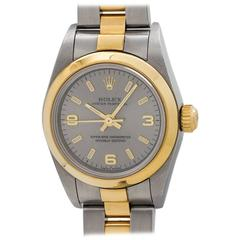 Rolex Yellow Gold Stainless Steel Oyster Perpetual Explorer Wristwatch